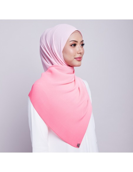 Ayna Pleats Shawl in Coral by Mataa