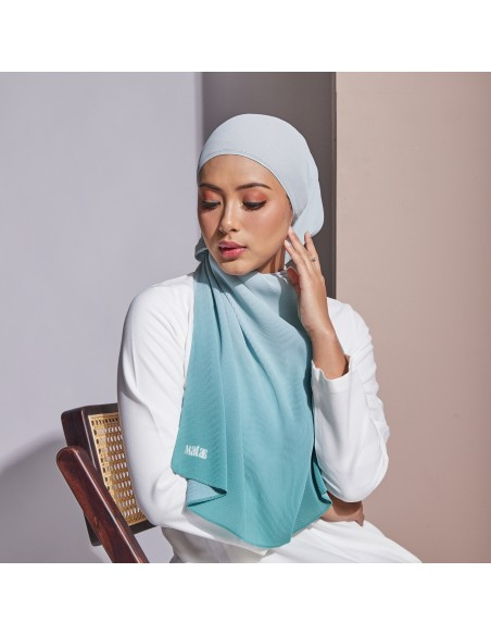 Tudung Ayna Pleats Shawl in Laurel - 4 Mataa Hijab